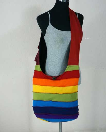 Rainbow Patch Cotton Bags