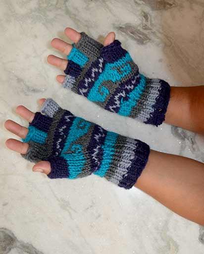 Nepalese Woolen Half Gloves