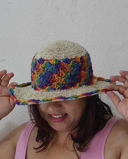 Rainbow Rim Hemp Cotton Hats