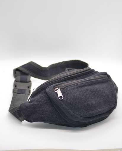 Black Cotton Belt Bags