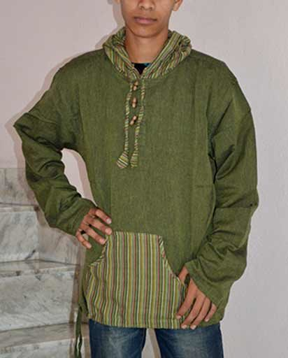 Cotton Pullover Style Hooded Kurthas