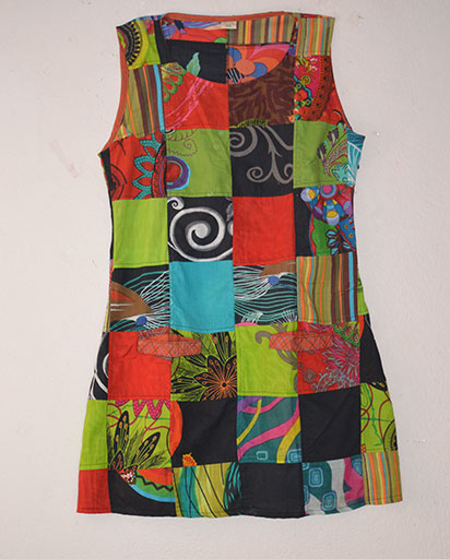 Fully Patchwork Cotton Dress