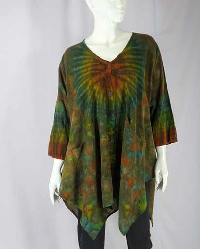 Cotton Tie Dyed Loose Tops