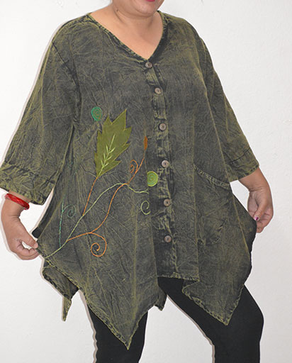 Womens Loose Cotton Tops