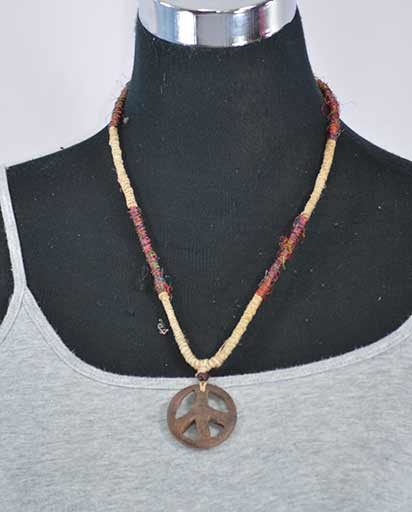 Recycled Silk Hemp Necklace