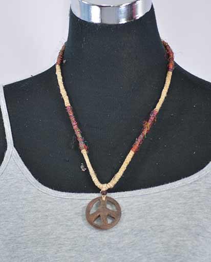 Recycled Silk Hemp Necklace