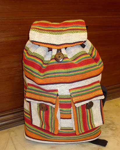 Nepalese Handwoven Cotton Rucksacks