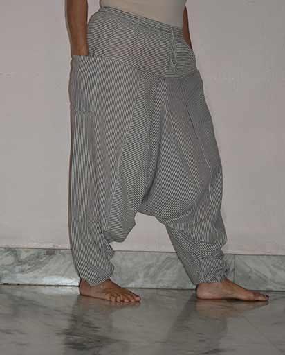 Stripes Aladdin Cotton Trousers