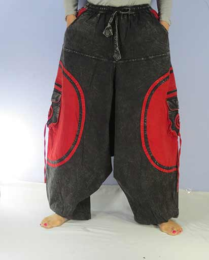 Stonewashed Cotton Baggy Trouser
