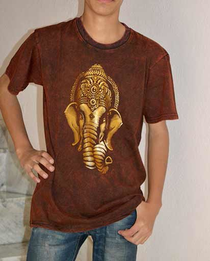 Ganesh Print Cotton T-Shirts
