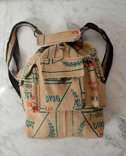 Recycled Jute Handmade Rucksack