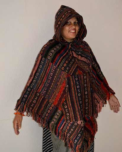 Thick Patch Cotton Brushed Ponchos