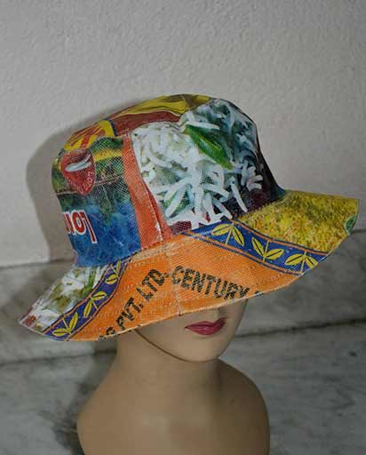 Recycled PVC Rice Bag Hats