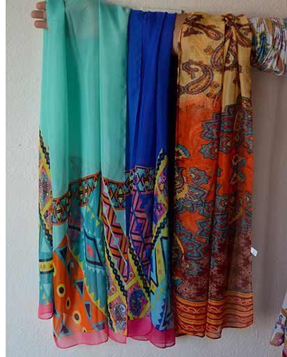 Multicolor Silk Viscose Scarves