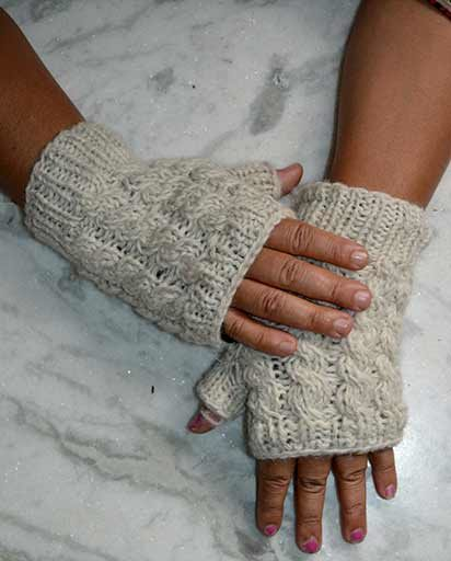Hand Knit Woolen Pulse Warmers