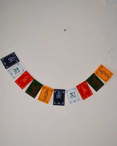 Tibetan Mantra Velet Prayer Flags