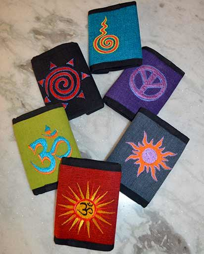 Embroidery Design Cotton Wallets