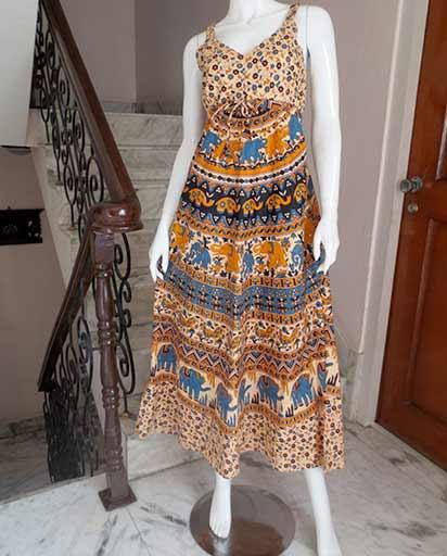 Bohemian Cotton Long Dresses