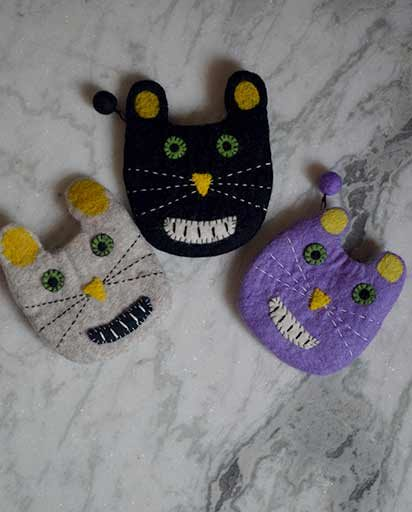 Handmade Wool Felted Coin Purses