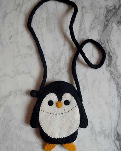Childrens Felt Penguin Bags