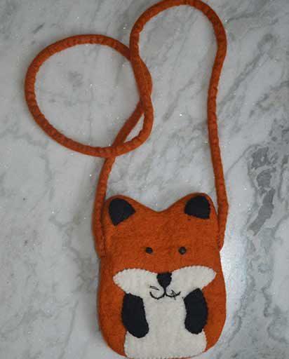 Kids Handmade Felt Fox Bag