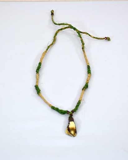 Hemp Buffalo Bone Necklace