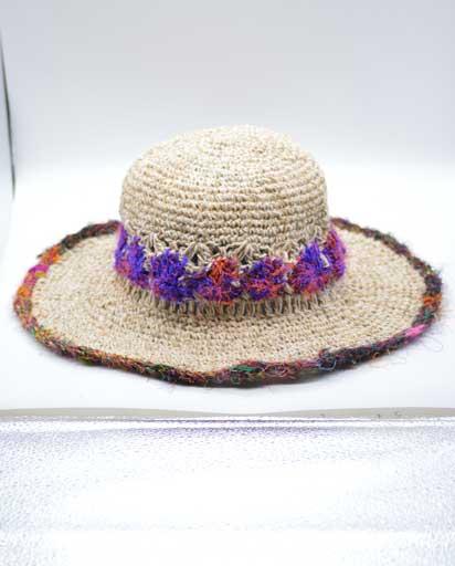 Recycled Silk Flower Hemp Hats
