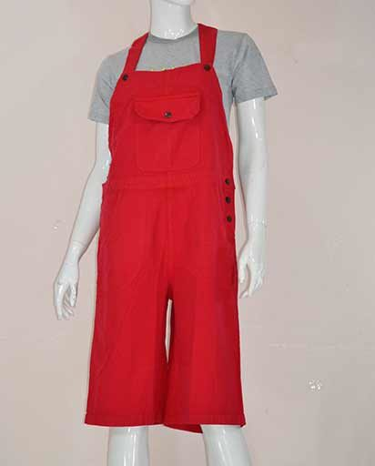 Knee Length Cotton Overalls