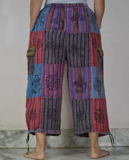 Bohemian Cotton Patch Pants