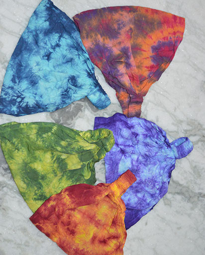 Tie Dyed Cotton Headbands