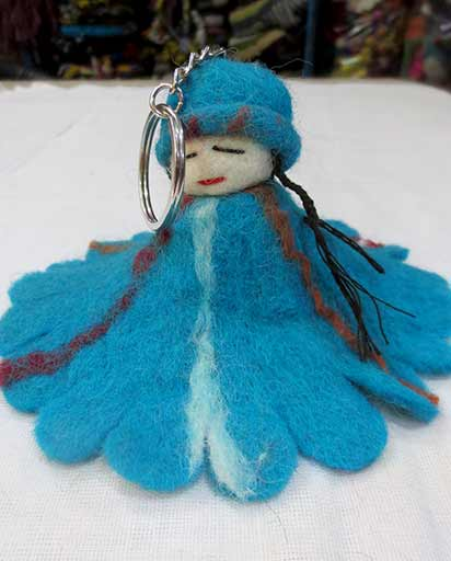 Handmade Felt Doll Key Rings