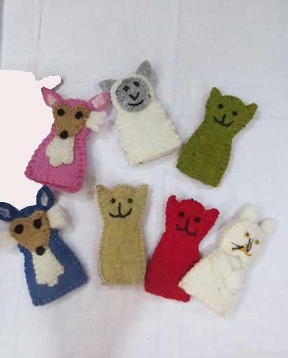 Handmade Wool Felt Finger Puppets