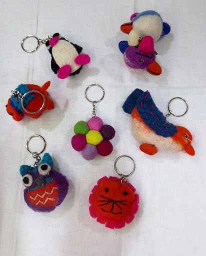 Handmade Felt Key Rings