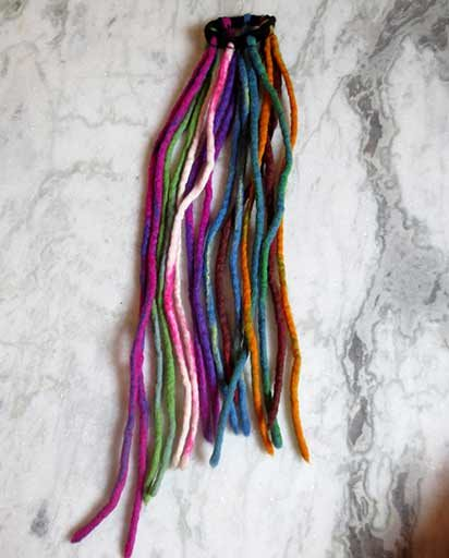 Handmade Multicolor Felt Dreadlocks