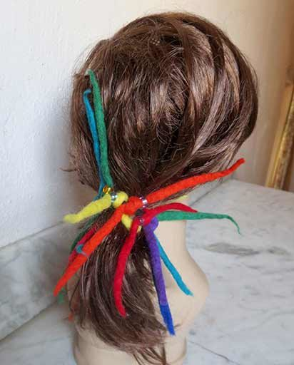 Handmade Multicolor Felt Hair Ties