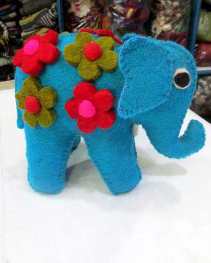 Handmade Wool Felt Elephant