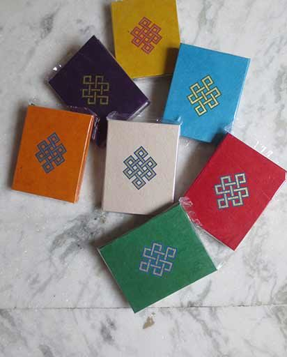 Endless Knot Organic Paper Note Book