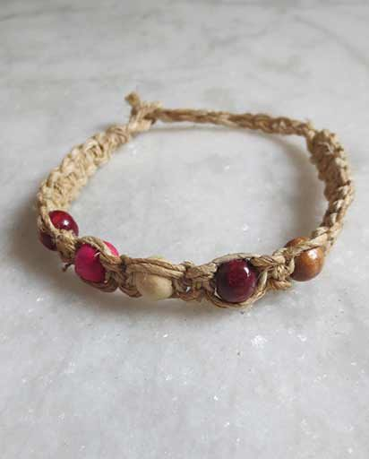 Handmade Hemp Beads Bracelets