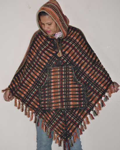 Stonewashed Razor Cut Cotton Ponchos