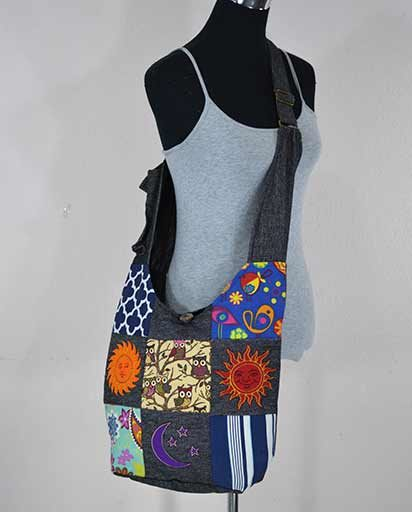 Cotton Patchwork Jogi Bags