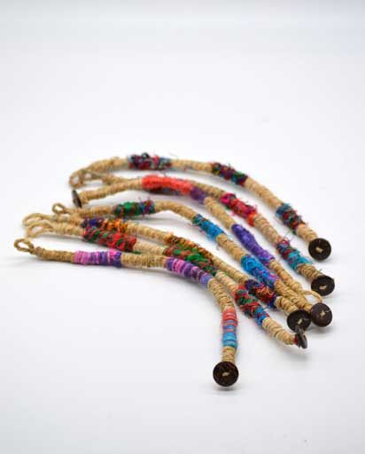 Recycled Silk Hemp Bracelet