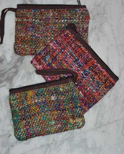 Recycled Silk Small Purses