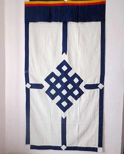 Tibetan Endless Knot Cotton Door Curtain