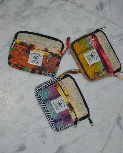 Tie Dyed Hemp Cotton Purses