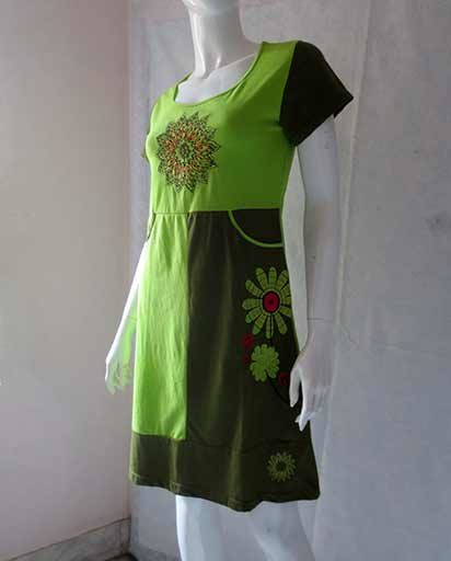 Cotton Embroidery Patchwork Dress