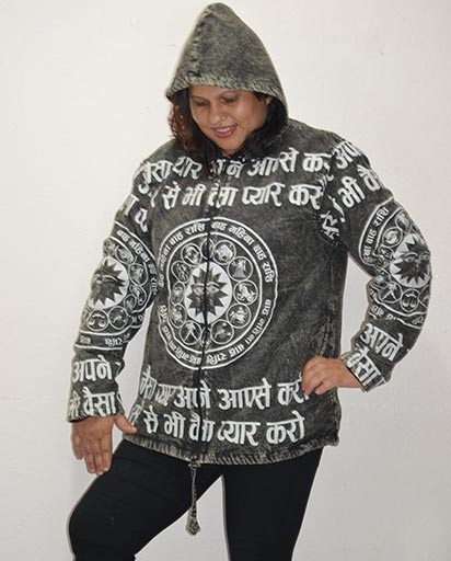Zodiac Sign Cotton Jackets