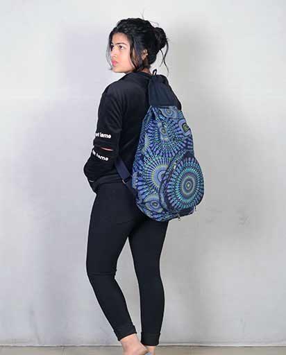 Mandala Print Cotton Backpacks