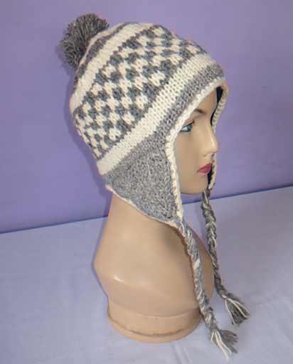 Hand Knitted Woolen Ear Flap Hats
