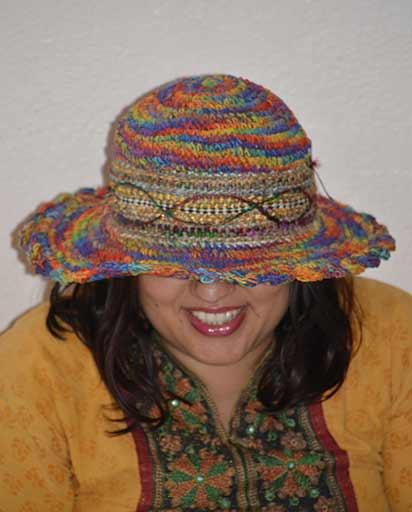 Hand Woven Hemp Cotton Hats