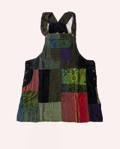 Patchwork Short Cotton Dresses